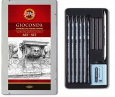 8894000001PL Art set Gioconda 11-delig in blik